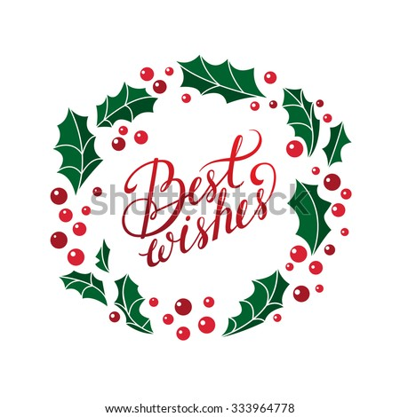 vector best wishes christmas card beautiful calligraphy for your designit can be used