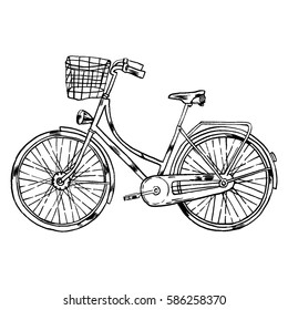 Vector Bicycle with Cart