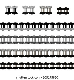 vector bicycle chain seamless