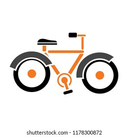 vector Bicycle icon, vector Bicycle illustration - sport symbol