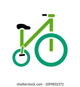 vector Bicycle illustration - ride cycle symbol, exercise sign symbol