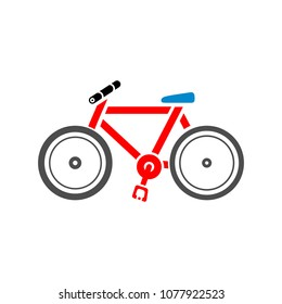 vector Bicycle illustration. sport ride bike icon