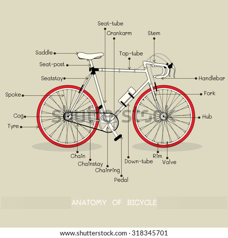 Vector Bicycle Illustration Text Ride Me Stock Vector Royalty Free