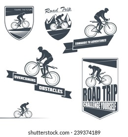 Vector bicycle labels, badges and design elements