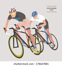 Vector Bicycle Race Illustrations