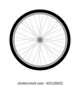 Vector Bicycle wheel