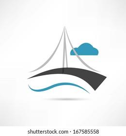vector big bridge icon