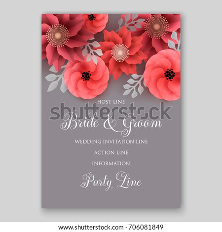 Vector big paper flower origami rose stock vector royalty free vector big paper flower origami rose anemone peony wedding invitation floral card template mightylinksfo