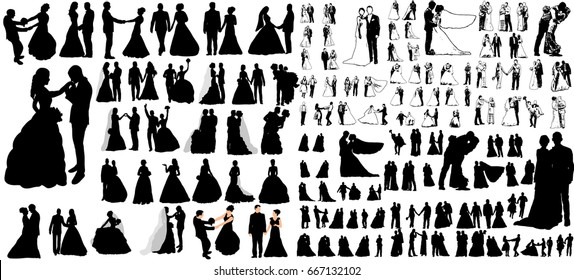 Wedding Silhouette Images, Stock Photos & Vectors   Shutterstock