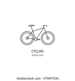 Vector bike icon in trendy linear style