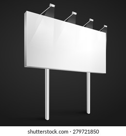 Vector billboard blank template, mockup