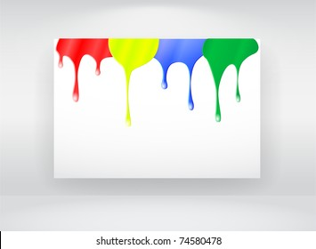 Vector billboard with paint splash