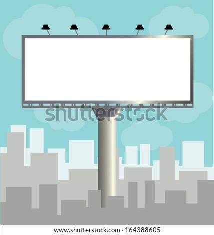 Vector Billboard Template Outdoor Advertising Vector Stock Vector