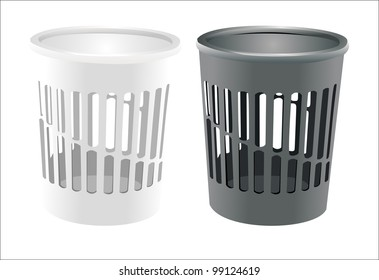 Vector bin set isolated on white