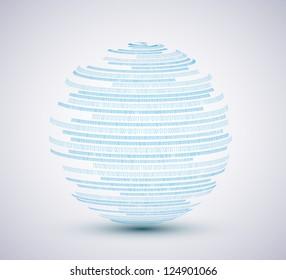 Vector binary sphere background. Eps10 illustration