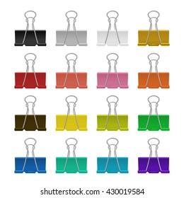 Vector binder clips