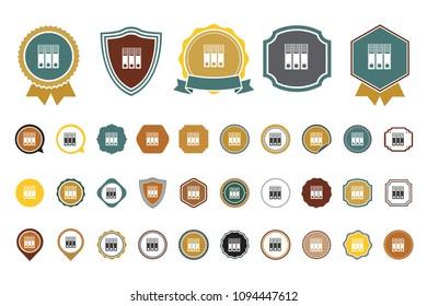 vector binder  icon