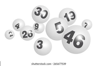 Vector Bingo / Lottery Ball Set