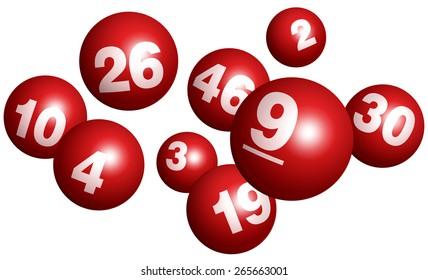 Vector Bingo / Lottery Number Balls Set