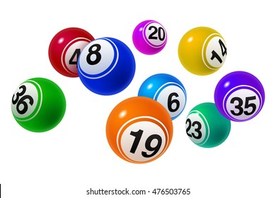 Vector Bingo / Lottery Number Balls Set Colorful