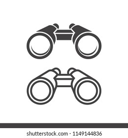 Vector binoculars icon flat and outline style isolated on white background