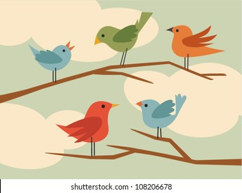 vector bird set 5
