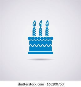 vector birthday cake icon