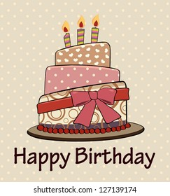 Vintage Birthday Cake Images Stock Photos Vectors Shutterstock