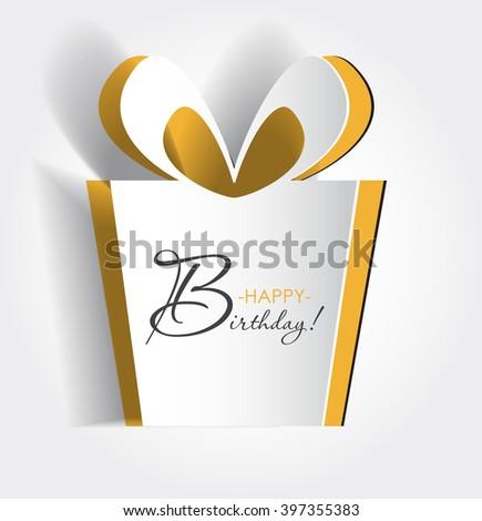 Vector Birthday Card Background Symbol Cut Stock Vector Royalty
