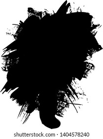 Vector - Black abstract paint on white background