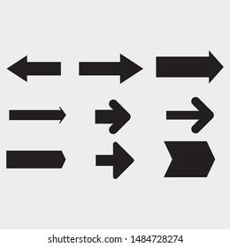 Vector black arrows set - Vector