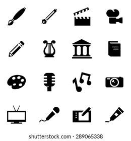 Vector black art icon set.