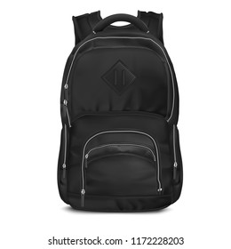 Vector Black Backpack bag
