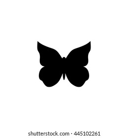 Vector black butterfly silhouette.