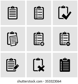 Vector black check list icon set.