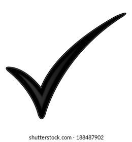 Vector black check mark