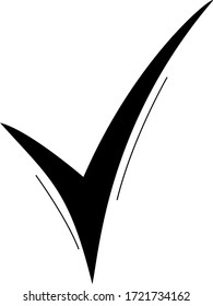 vector black checkmark , sign, checklist