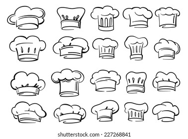 vector black Chef hat icon on white background