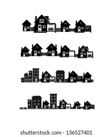 vector black city icons set 2