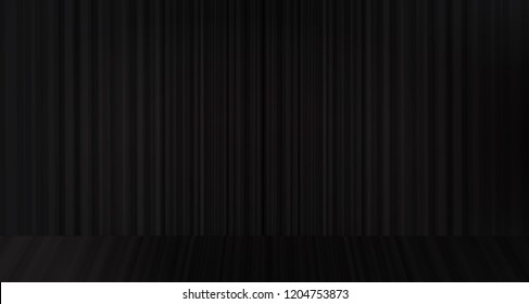 Vector black curtain with  stage background,modern style.