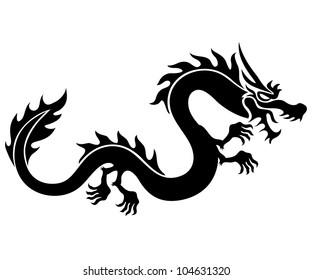 Vector. Black dragon.