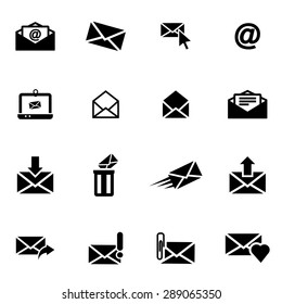 Vector black email icon set.