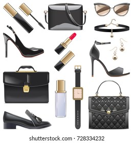 Vector Black Female Accessories