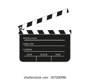 vector of the black film flap, isolated