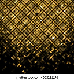 Vector black & gold mosaic background