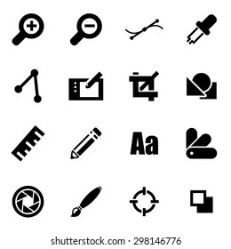 Vector black graphic design icon set
