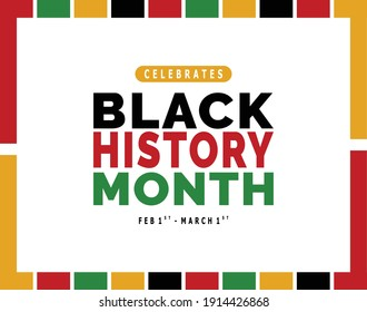 Vector of black history month layout with Colorful Beautiful border on white background for Americans.