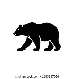 Vector black icon for bear