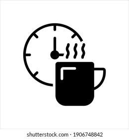 Vector black icon for break