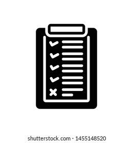 Vector black icon for list